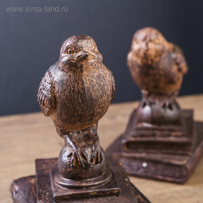 """Держатели для книг """"Птички на старых книгах"""" набор 2 шт 21х15,3х13 см - фото 4"""