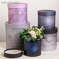 Набор круглых подарочных коробок 5 в 1 «Пантон 07», 23 × 23 × 25 15 × 15 × 15 см