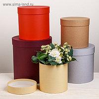 Набор круглых подарочных коробок 5 в 1 «Микс 14», 23 × 23 × 25 15 × 15 × 15 см