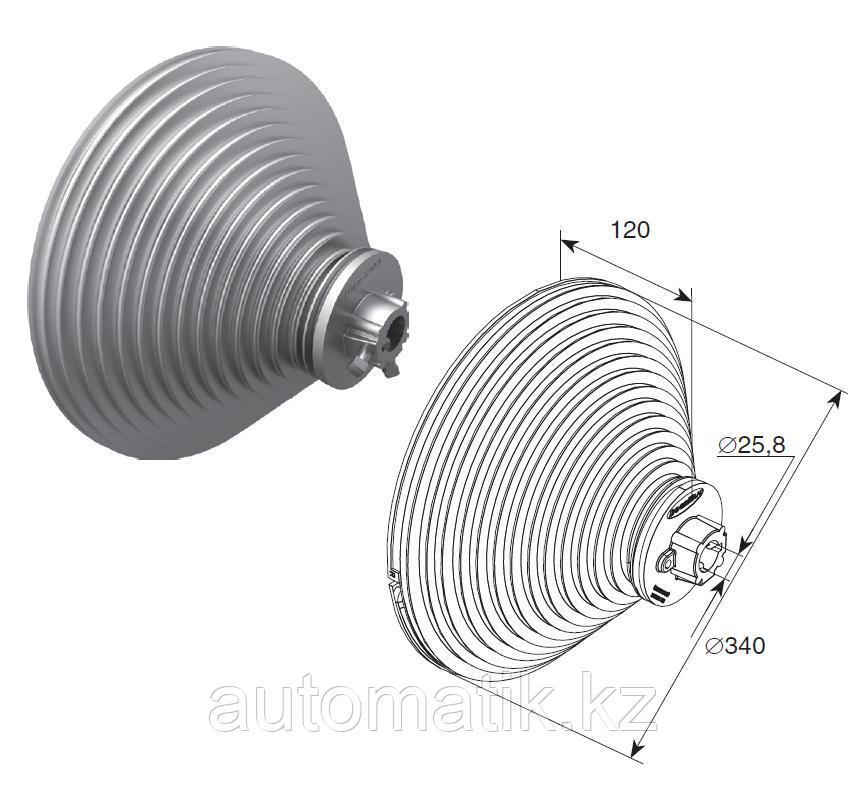 Барабан для вертикального подъема H=8560 мм