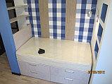 Кровать с ящиками и полками, фото 2