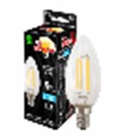 Лампа филаментная светодиодная Заря Пуля C35, 6W, E14, 4200К