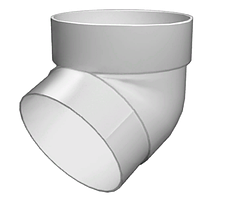 Колено трубы 67° 87 мм Белый Grand Line