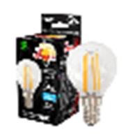 Лампа филаментная светодиодная Заря Шар G45, 6W, E14, 4200К