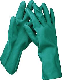 Перчатки нитриловые индустриальные маслобензостойкие, KRAFTOOL XL, повышенной прочности с х/б напылением,