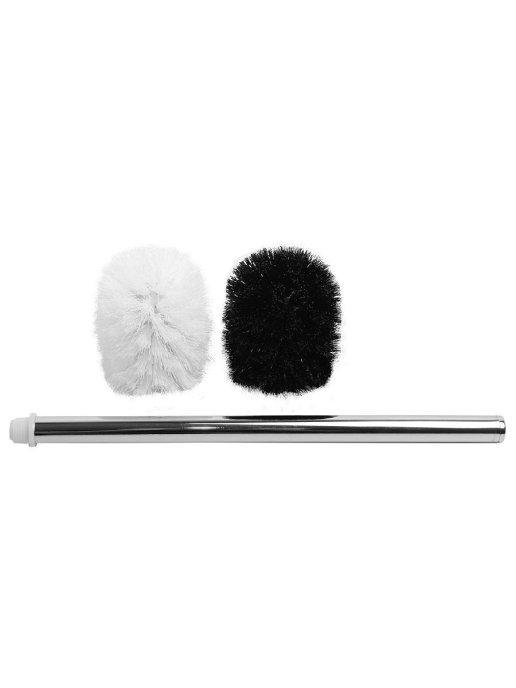 Набор щеток для унитаза Аквалиния (черная, белая) 2 шт + ручка