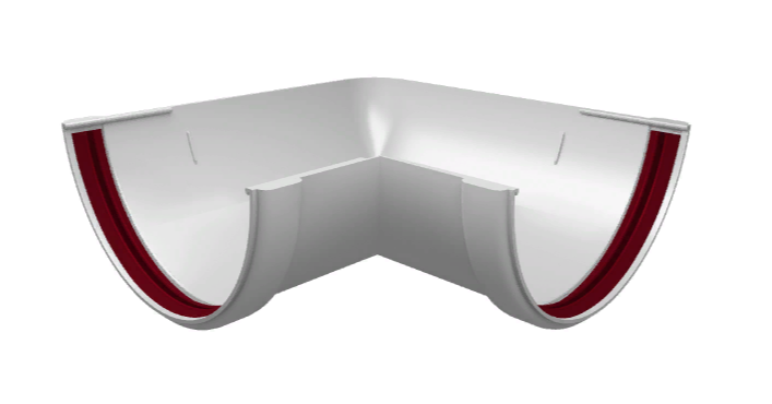 Угол желоба 90° универсальный 120x85 мм Белый Grand Line