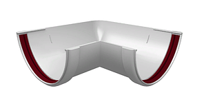 Угол желоба 90° универсальный 120x87 мм Белый Grand Line