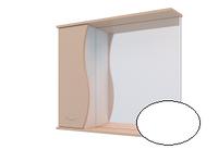 Шкаф навесной, 1 дверь + зеркало, 700,70*70*17 (Орхидея, Белый снег, Ясень жемчужный)(4603750000000)