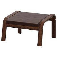 Табурет для ног ПОЭНГ коричневый/Глосе темно-коричневый ИКЕА, IKEA