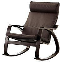 Кресло-качалка ПОЭНГ черно-коричневый/Глосе темно-коричневый ИКЕА, IKEA