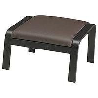Табурет для ног ПОЭНГ черно-коричневый/Глосе темно-коричневый ИКЕА, IKEA