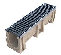 Комплект: лоток водоотводный maxi -30.38.40- пластиковый с решеткой водоприемной вч-50 кл.е щелевой