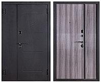 Дверь металлическая Ferroni Гарда 75 Муар/Веге Тобакко двухстворчатая (1200 мм)