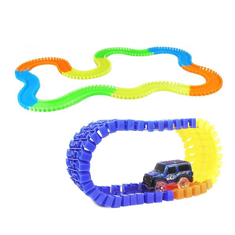 Детская игрушечная дорога Magic Tracks 165 деталей + машинка Интерактивные игрушки!