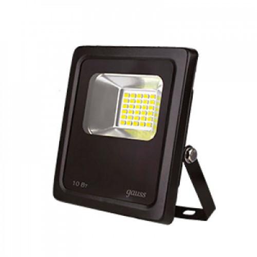 Прожектор светод.Gauss LED 10W COB 118*141*40 mm IP65 6500K черный