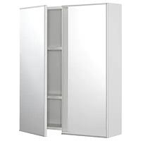 Зеркальный шкаф с 2 дверцами ФИСКОН белый 60x15x75 см ИКЕА, IKEA