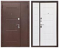 Дверь входная Ferroni Гарда 75 Антик Медь/Белый Ясень двухстворчатая(1200 мм)
