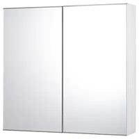 Зеркальный шкаф с 2 дверцами ФИСКОН белый 80x15x75 см ИКЕА, IKEA