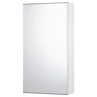 Зеркальный шкаф с 1 дверцей ФИСКОН белый 40x15x75 см ИКЕА, IKEA