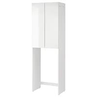 Шкаф для стиральной машины ФИСКОН глянцевый/белый  64x40x203 см ИКЕА, IKEA