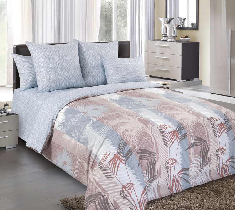 ТексДизайн Комплект постельного белья Пальмира 1, 1.5 спальный , бязь