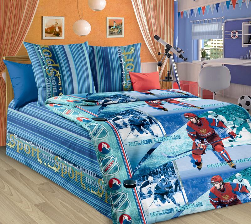 ТексДизайн Комплект постельного белья Хоккей, 1.5 спальный , бязь