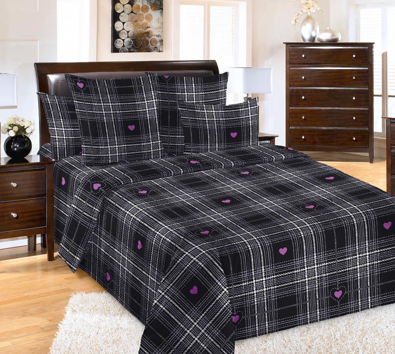 ТексДизайн Комплект постельного белья Уют 3, 1.5 спальный , бязь