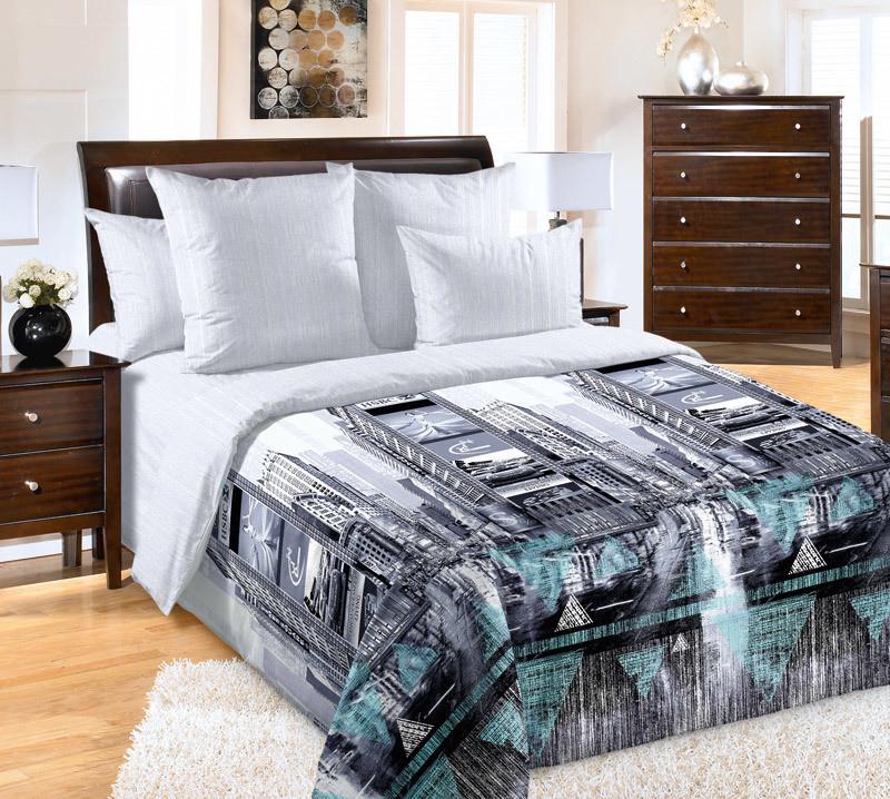 ТексДизайн Комплект постельного белья Таймс-сквер 1, 1.5 спальный , бязь