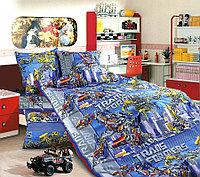 ТексДизайн Комплект постельного белья  Трансформеры, 1.5 спальный , бязь