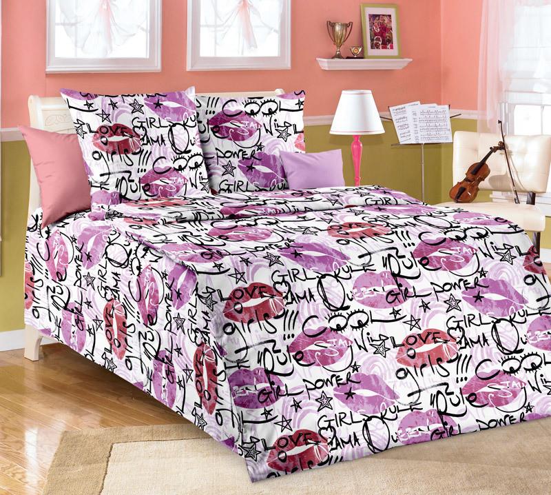 ТексДизайн Комплект постельного белья  Чмоки, 1.5 спальный , бязь