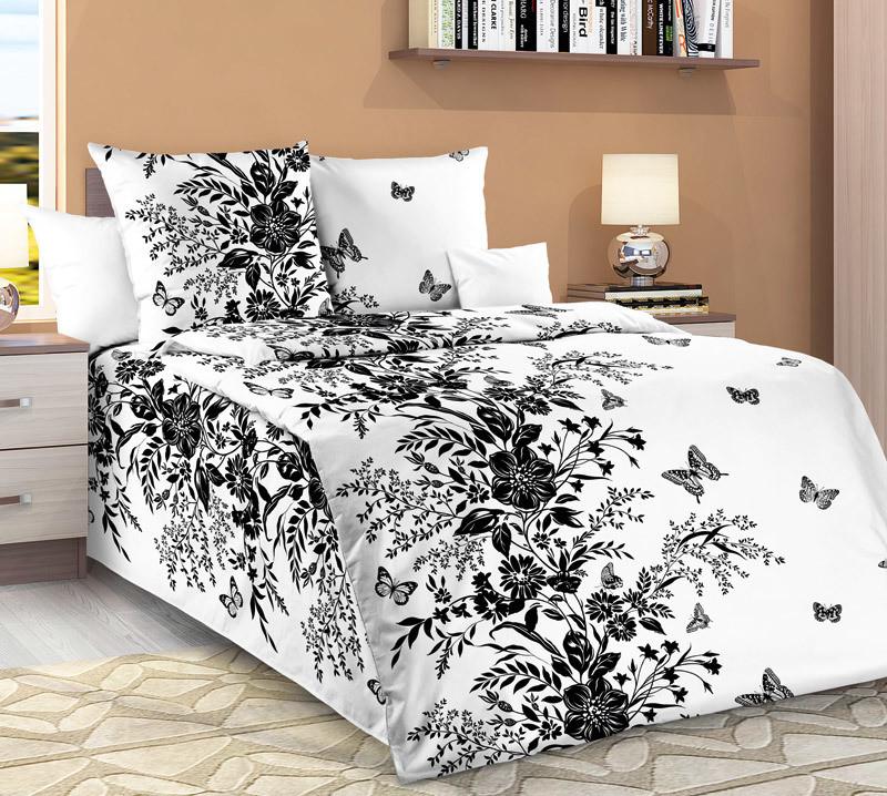 ТексДизайн Комплект постельного белья Нуар, 1.5 спальный , бязь