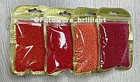 Бисер калиброванный красных оттенков