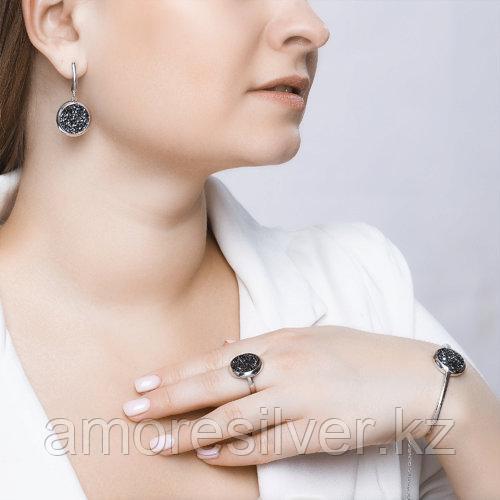 Серьги SOKOLOV серебро с родием, кристалл swarovski fine rocks , многокаменка 94022683 - фото 6