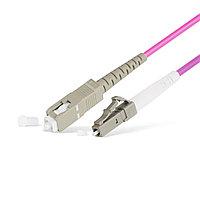 Патч Корд Оптоволоконный SC/UPC-LC/UPC MM OM4 50/125 Simplex 3.0мм 1 м