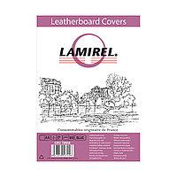 Обложки Lamirel Delta A4 LA-78688, картонные, с тиснением под кожу , цвет: синий, 230г/м², 100шт