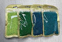 Бисер калиброванный зеленых оттенков