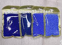 Бисер калиброванный тайванский синих оттенков
