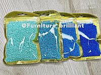 Бисер калиброванный голубых оттенков