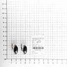 Серьги Darvin серебро с родием, агат черный, с английским замком, классика 929LB1107aa, фото 2