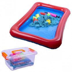 Кинетический песок 2 кг с бассейном