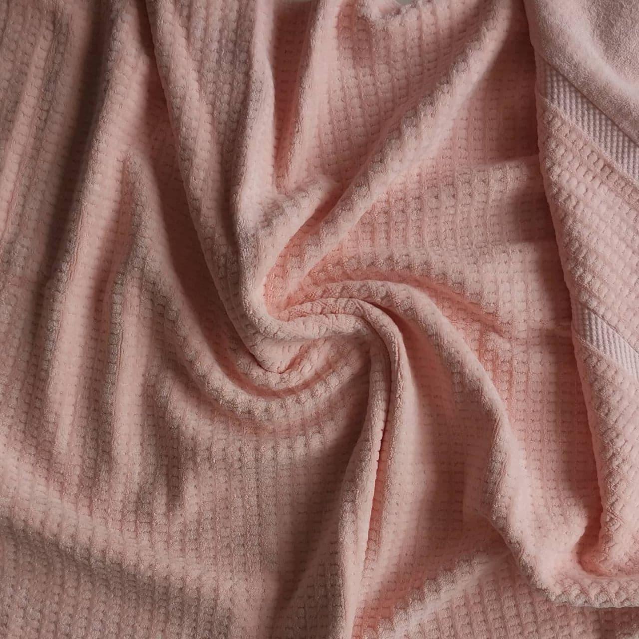 Банное полотенце 140х70 см. (Розовое)