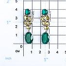 Серьги Серебряный дождь серебро с родием, фианит кварц пл. микс, с английским замком, многокаменка глс-056, фото 3