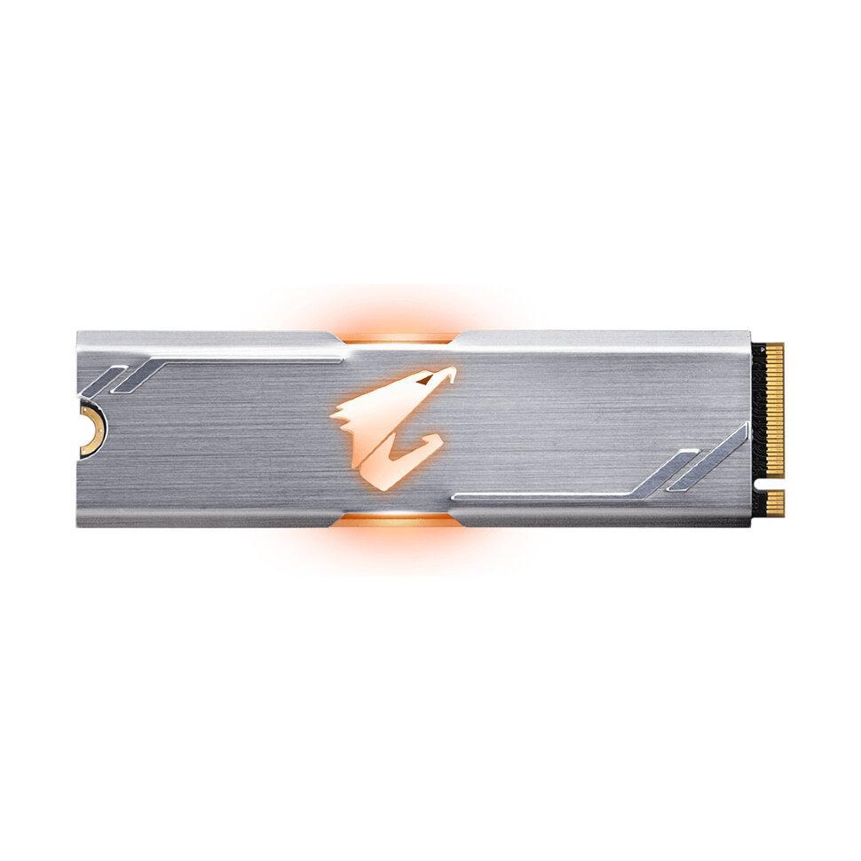 Твердотельный накопитель внутренний Gigabyte GP-ASM2NE2256GTTDR AORUS 256GB M.2 PCI-E 3.0x4 - фото 1