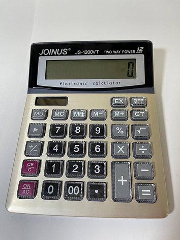 Калькулятор 12 разрядный золотистый, фото 2