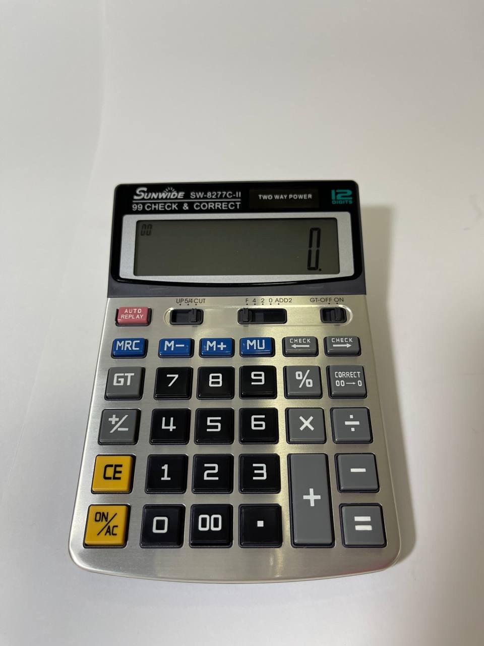 Калькулятор 12 разрядный SUNWIDE маленький
