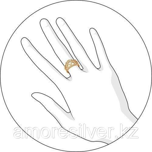 Кольцо SOKOLOV серебро с позолотой, фианит , корона 93010365 размеры - 16 16,5 17 - фото 3