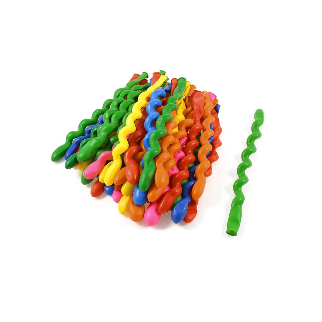 Воздушные шарики в форме спирали 1111-0363 (10 шт. в пакете) - фото 1
