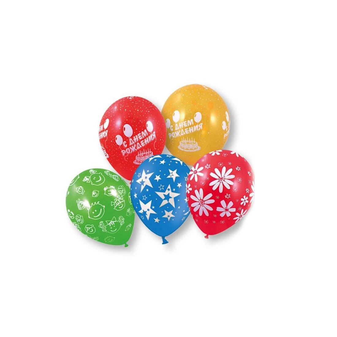 Воздушные шарики 1111-0111 (1111-0834) (5 шт. в пакете) - фото 1