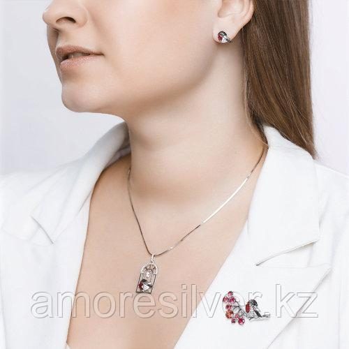 Брошь SOKOLOV серебро с родием, фианит корунд синт., фауна 94040139 - фото 7